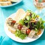 Spiesje met tonijn en cherrytomaat & Rosé Chateau Villerambert