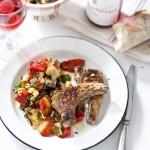 Gegrilleerde lamskoteletjes met ratatouille & Rosé Tavel