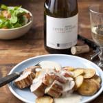Varkenshaas met appel en romige cognacsaus & Chardonnay