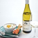 Ei 'en cocotte' met gerookte zalm & Pinot Blanc