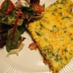 Italiaanse groente-omelet & Soave
