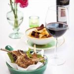 Gepaneerde lamskotelet met komijn en munt & Shiraz