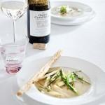 Kippenbouillon met geroerbakte asperges & Sauvignon Blanc