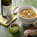 Tomatenmaaltijdsoep met pistou & Sauvignon Blanc