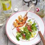 Avocadosalade met grapefruit en waterkers & Sauvignon blanc