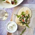 Aziatische tortilla & Pinot Gris