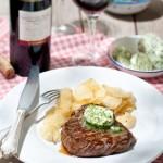 Hollandse biefstuk met kruidenboter & Ribera del Duero