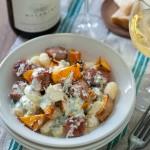 Gnocchi met geroosterde pompoen en worst & chardonnay