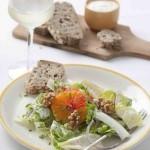Witlofsalade met bloedsinaasappel en walnoten & Sauvignon blanc