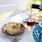 Crème brûlée met amandelen & Moscatel