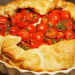 Tomatentaartje met Parmaham en ricotta & Beaujolais