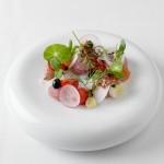 Groenten-tuintje met makreelrolletjes van chef-kok Dirk Zwerts