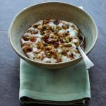 Rijstpudding met butterscotchsaus van chef-kok Ricardo van Ede & Muscat de Rivesaltes